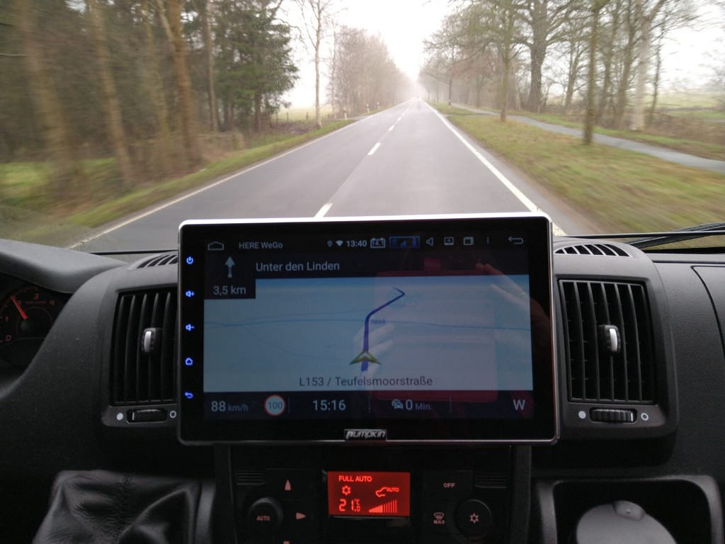 Navigation mit dem Pumpkin Android Radio