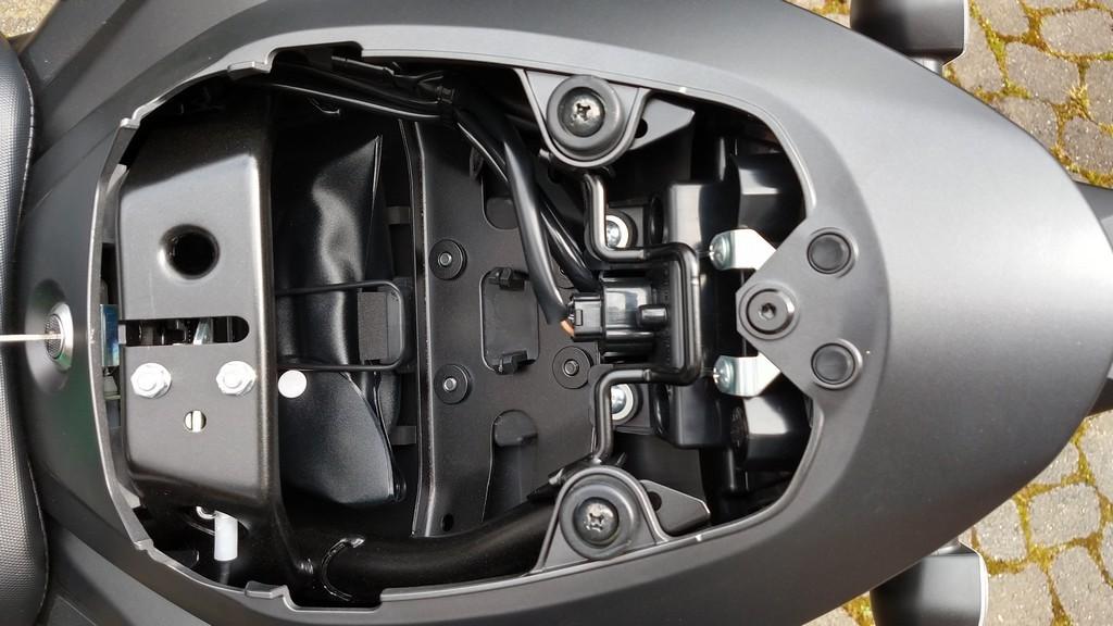 Der Kofferraum der Suzuki GSX-S 750