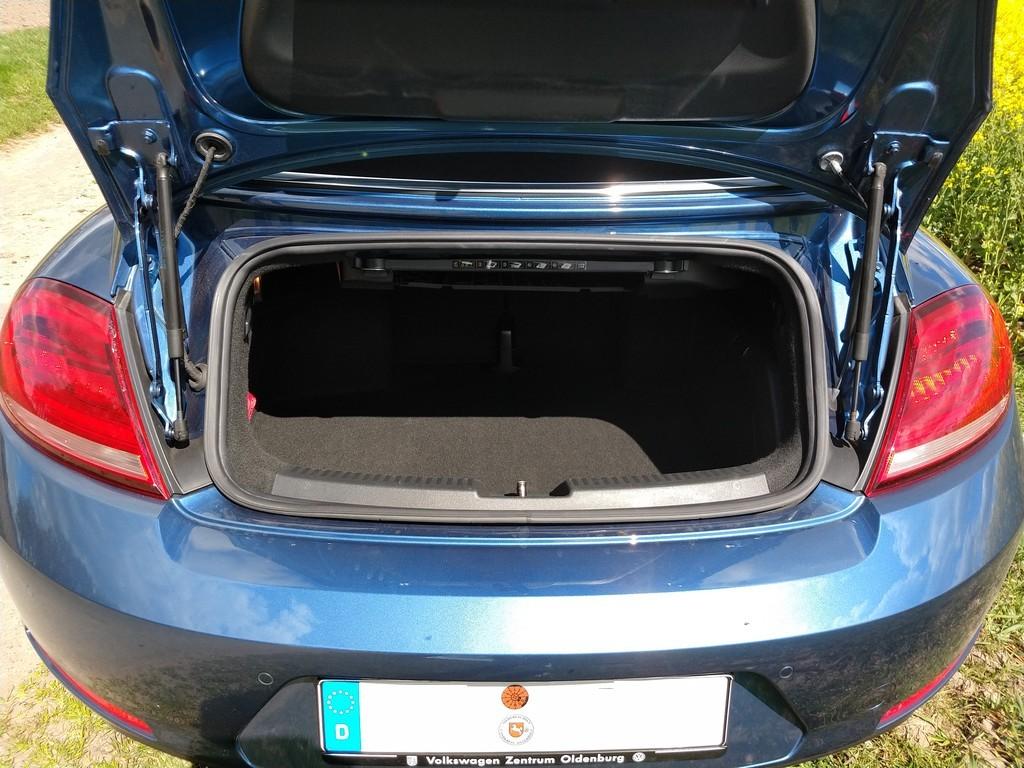 Kofferraum des VW Beetle Cabrio