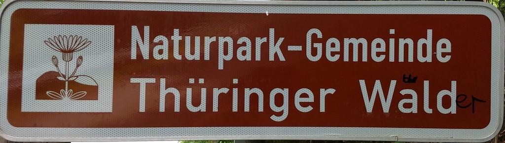 Auschilderung des Naturparks Thüringer Wald