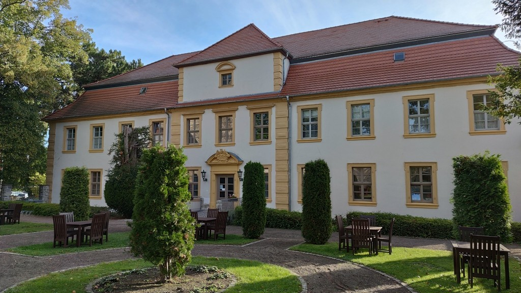 Gartenansicht des Stadtschloss Hecklingen