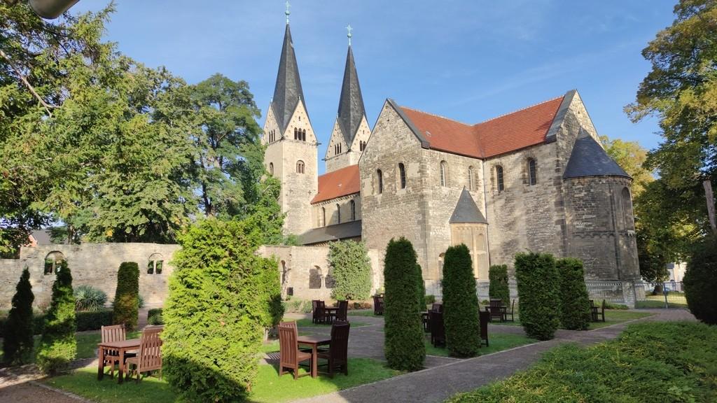 Schlossgarten des Stadtschloss Hecklingen